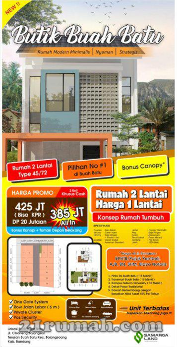 Rumah Dijual di Daerah Bojongsoang, Bandung Harga 300 Juta ...